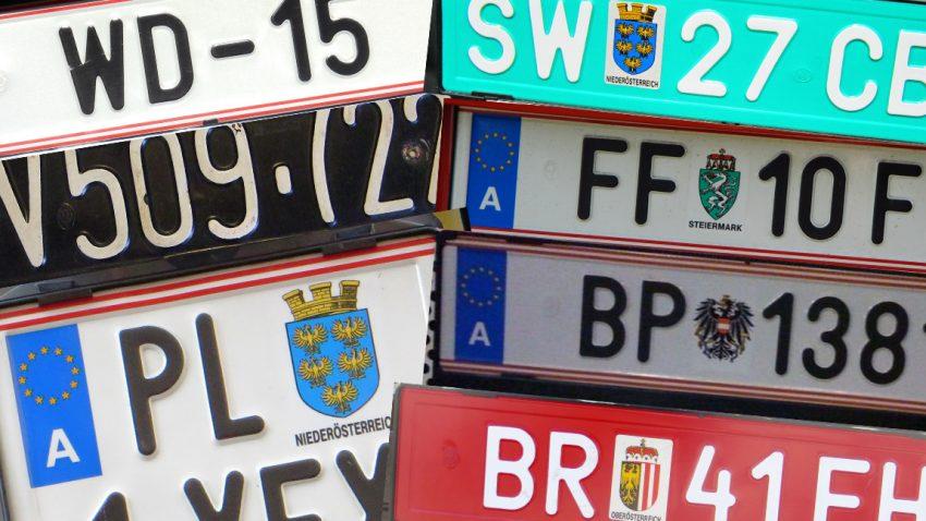 Die Vielfalt der Kfz-Kennzeichen in Österreich