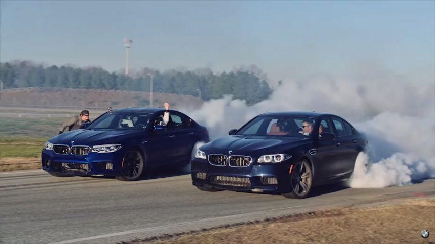 Weltrekord für den BMW M5: 8 Stunden-Drift samt Tank-Stunt