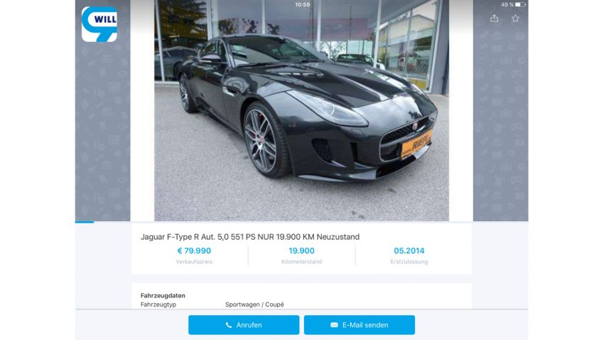 Helmut Markos Jaguar F-Type R Coupé sucht einen neuen Besitzer