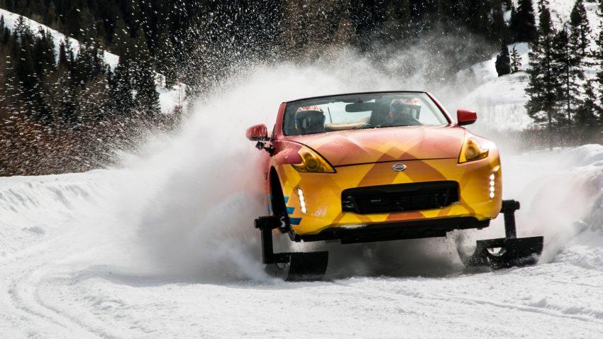 Nissan 370Zki: Schnee, mobil