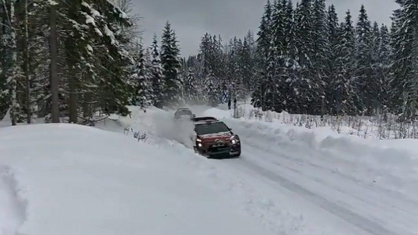 Wie eines der seltenen WRC-Überholmanöver gehörig schief ging