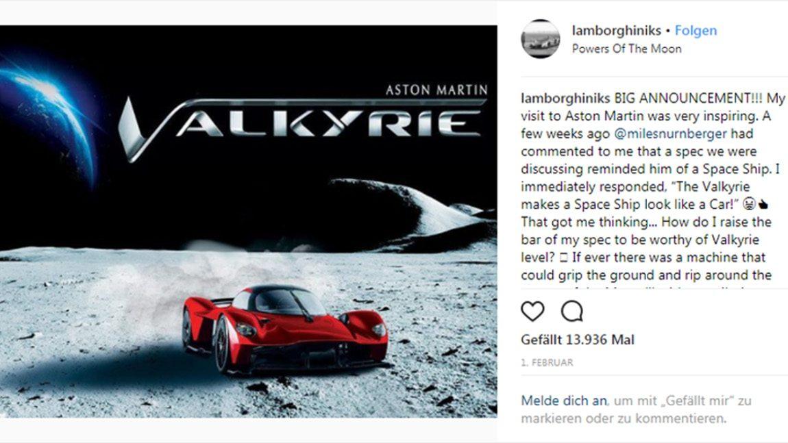 """Ein Milliardär will seinen Aston Martin Valkyrie mit echtem """"Mondstaub"""" lackieren"""