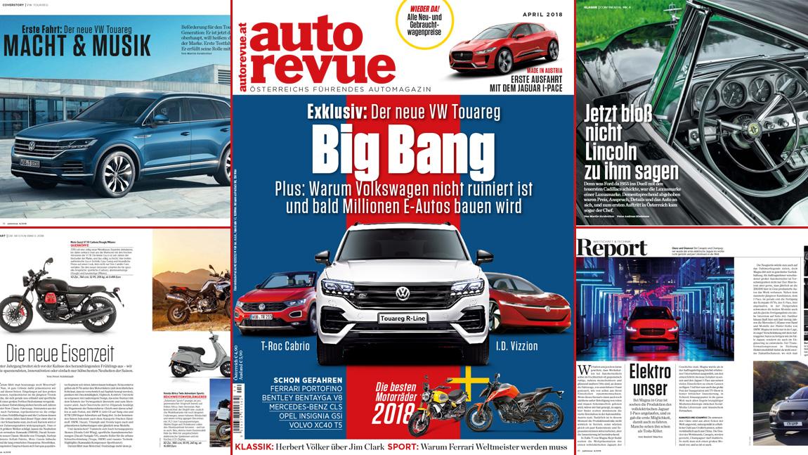 Autorevue Magazin: April 2018 | autorevue.at