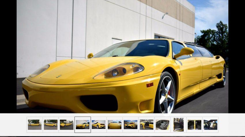 Diese Ferrari-Stretchlimousine wollte niemand kaufen
