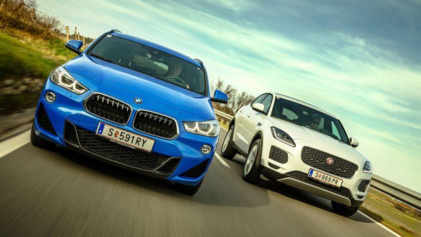 Nachrichten vom Speckgürtel: BMW X2 vs. Jaguar E-Pace