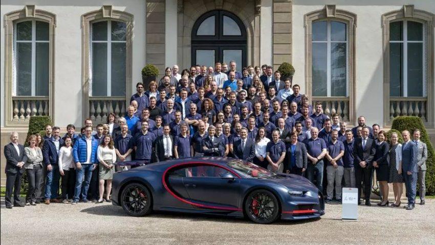 Das ist der 100. Bugatti Chiron