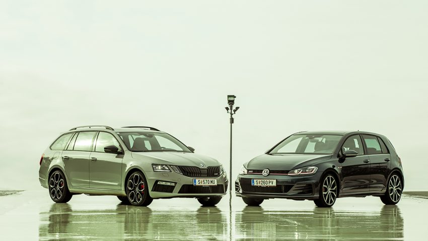 Golf GTI vs. Octavia RS – 248 : 250 = 6,2 : 6,7