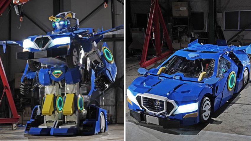 Ja, das ist ein fahrbarer Transformer aus Japan
