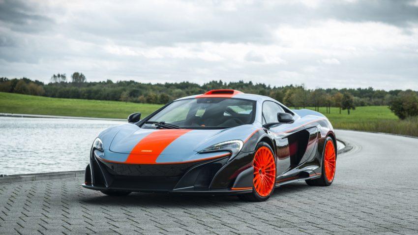 Die legendären Gulf Racing-Farben stehen auch einem maßgeschneiderten McLaren 675LT
