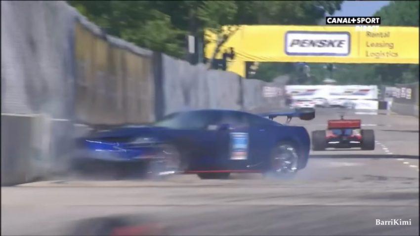 General Motors-Manager crasht neue Corvette ZR1 bei IndyCar-Einführungsrunde