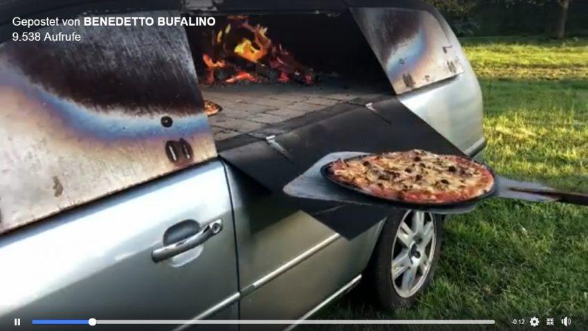 Dieser Franzose hat einen Ford Mondeo zu einem Pizzaofen umgebaut