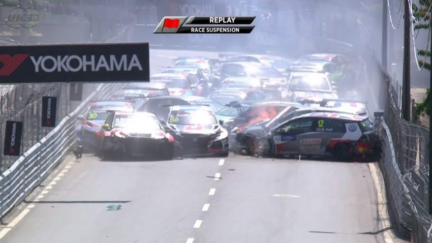 Mega-Crash eliminiert alle Autos bei WTCR-Rennen