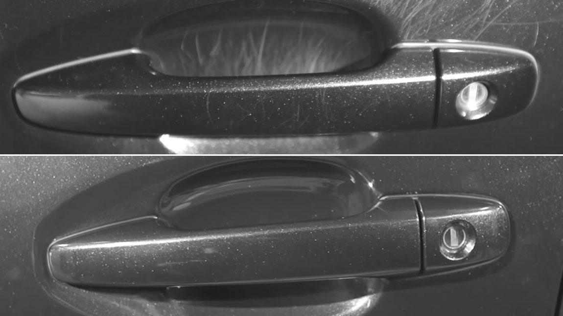 Lack-Kratzer hinter dem Türgriff: Was man dagegen tun kann und was man lassen sollte