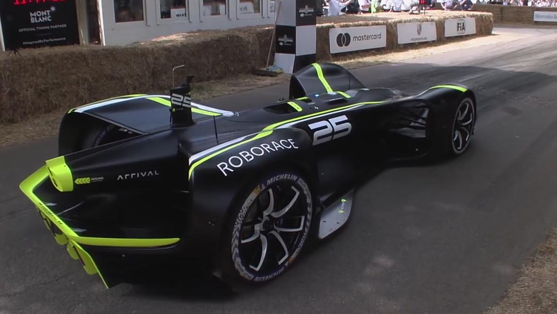 Roborace Goodwood erstes Autonomes Fahrzeug