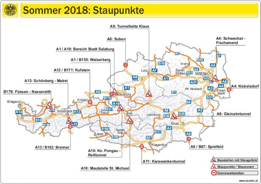 Sommerreiseverkehr 2018: Das sind die Stau-Hotspots
