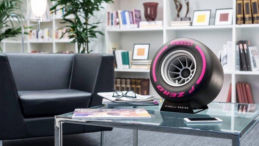 Slicks mit Sound: Pirelli Bluetooth-Lautsprecher