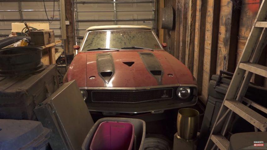 """Einer von nur 335: Dieses 1970er Shelby Mustang GT500 Cabrio ist ein grandioser """"Scheunenfund"""""""
