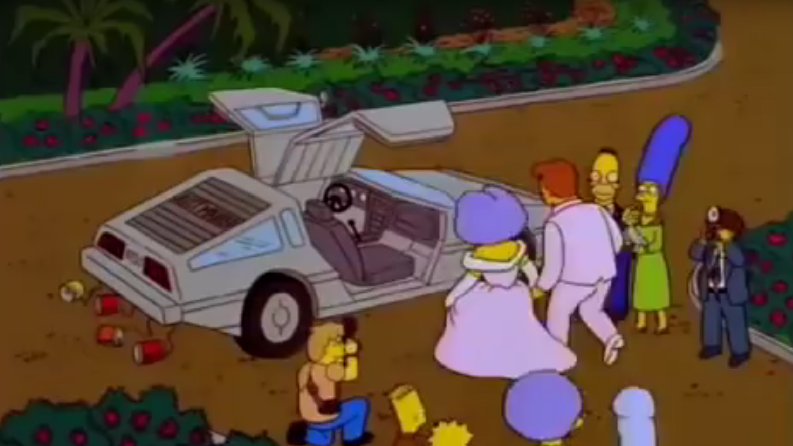 10 Autos au den Simpons DeLorean