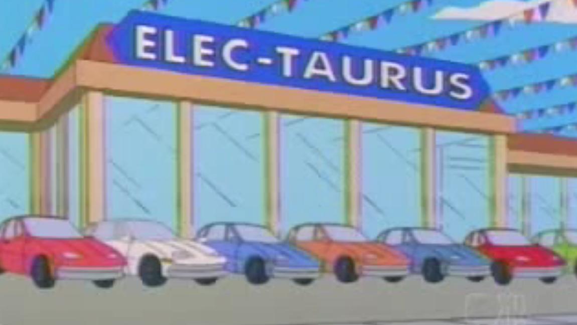 10 Autos au den Simpons GM EV1