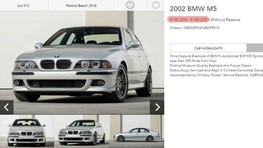 Ein BMW E39 M5 - für 180.000 US-Dollar?!?