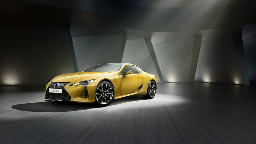 Paris Autosalon Lexus LC Yellow Edition