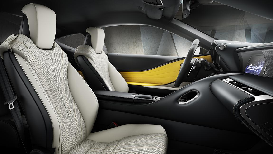 Paris Autosalon Lexus LC Yellow Edition