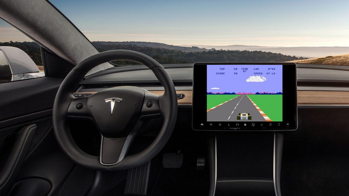 Bald könnt ihr Atari-Games im Tesla spielen