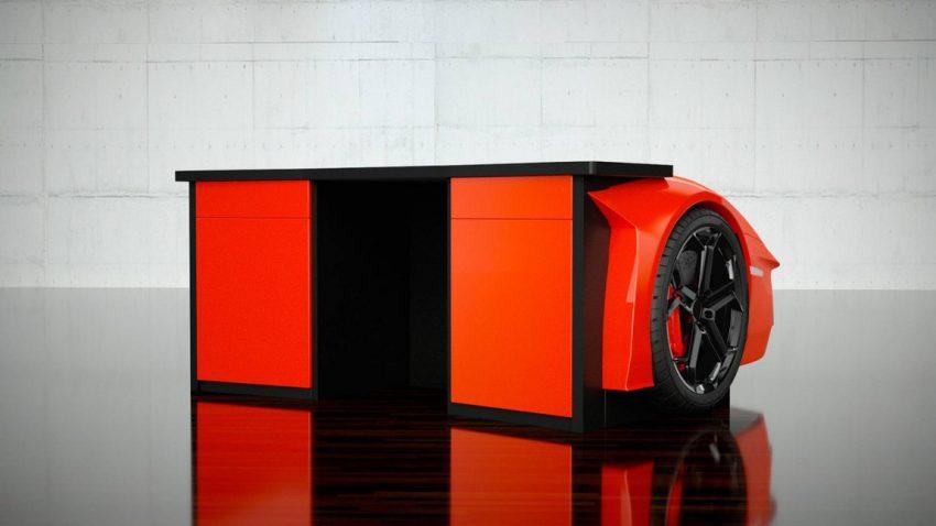 Schneller arbeiten? Lamborghini-Schreibtisch fürs Homeoffice