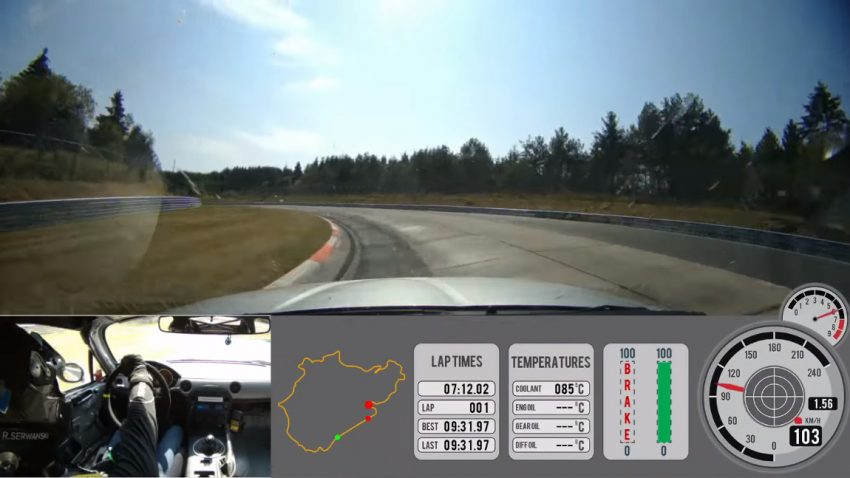 Ein Königsegg-Testfahrer gibt am Nürburgring alles - in einem Mazda MX-5