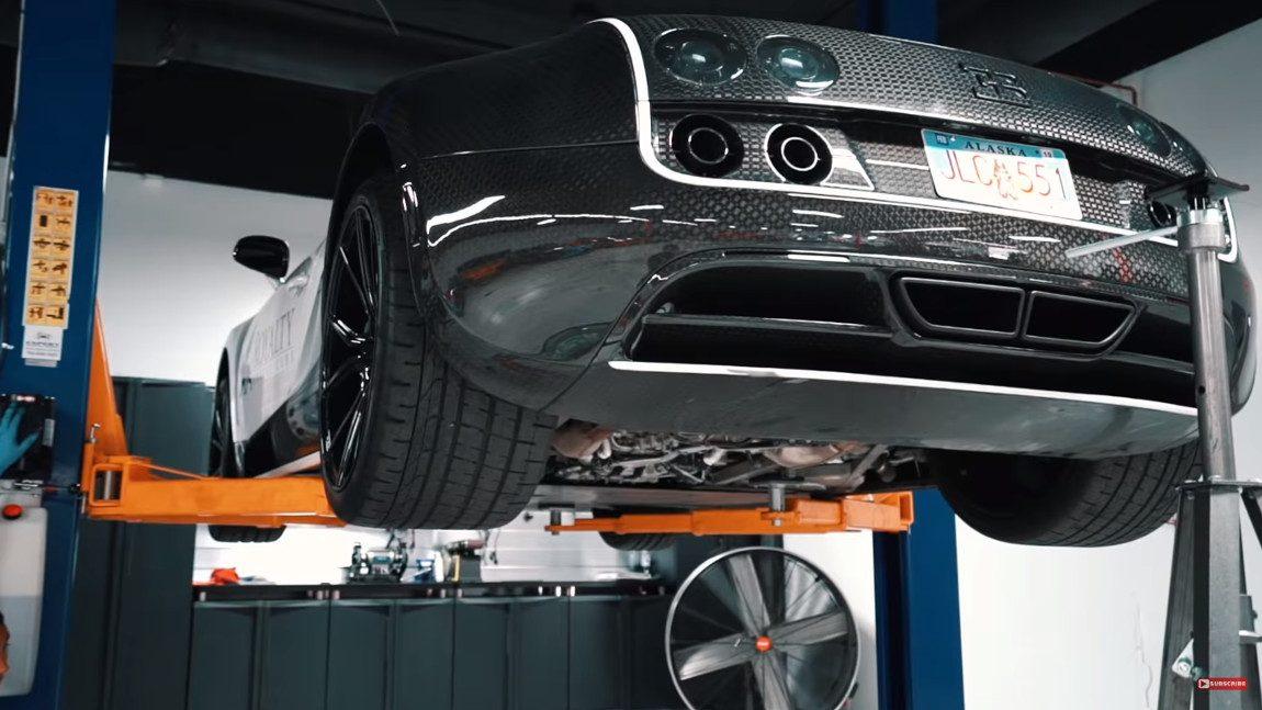 ölwechsel Bugatti Veyron