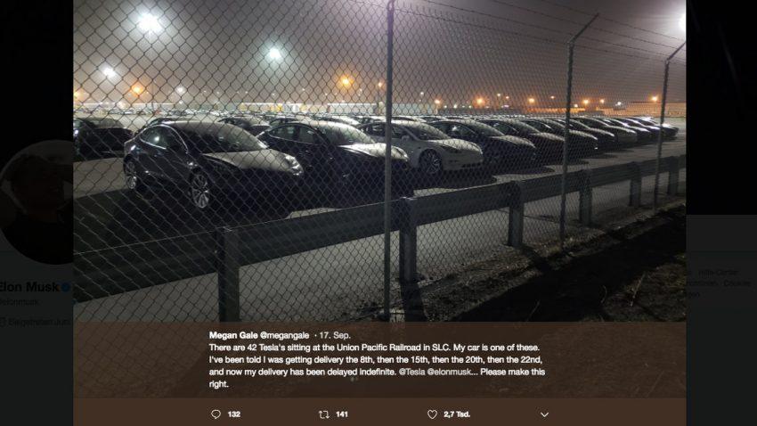 """Tesla ist jetzt in der """"Auslieferungslogistik-Hölle"""""""