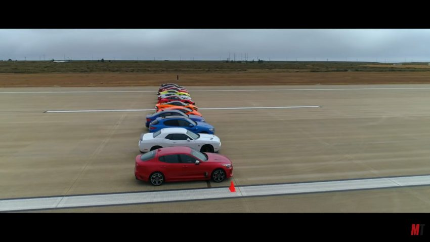 Das großartigste Drag Race der Welt: Showdown mit 12(!!) (Super-)Cars