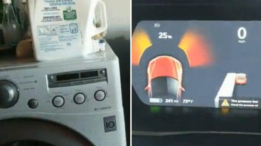 Tesla hält Waschmaschine und Wäschetrockner für einen Bus