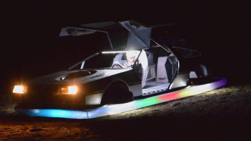 Funktionierendes DeLorean-Hovercraft zu verkaufen