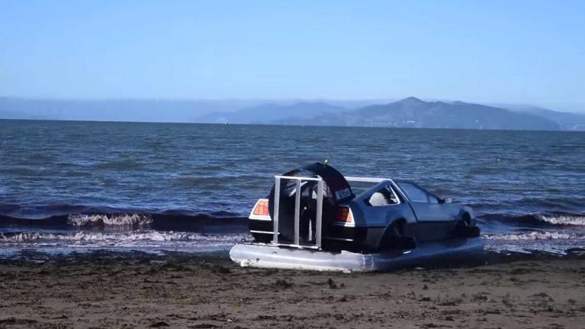Ja, das ist ein funktionierendes DeLorean-Hovercraft