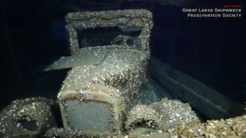 Oldtimer in 90 Jahre altem Schiffswrack entdeckt