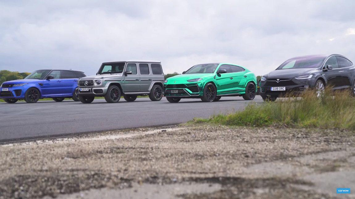 SUV-Showdown am Drag Strip