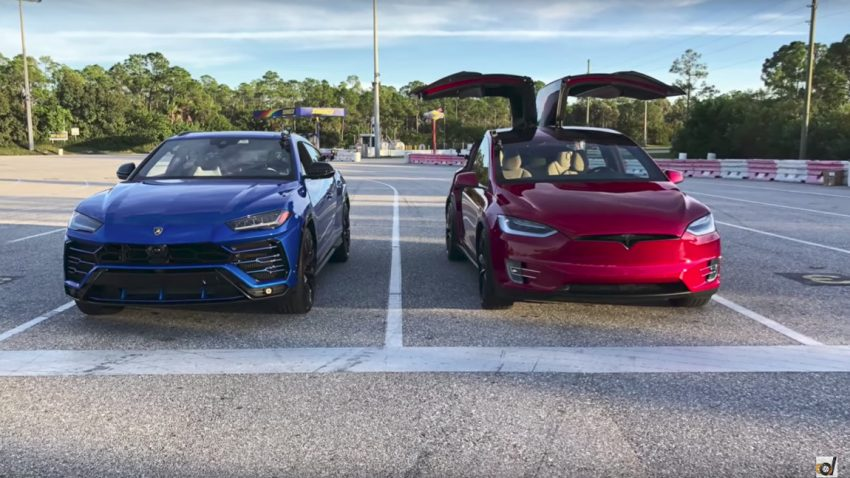 Drag Race: Tesla Model X vs. Lamborghini Urus