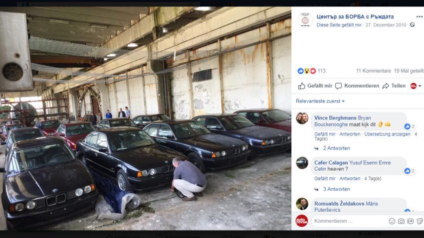 11 nagelneue, nie gefahrene BMW 5er (E34) in Lagerhalle entdeckt [Update]