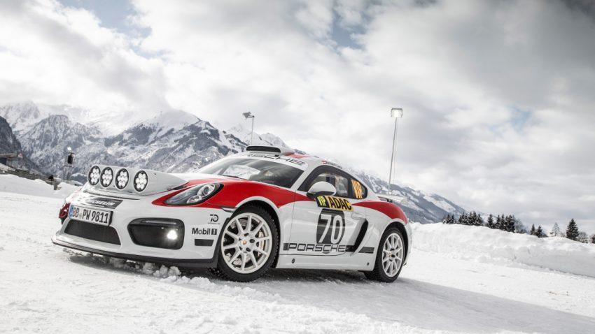 Porsche Cayman GT4 Rallye: Schee auf Schnee
