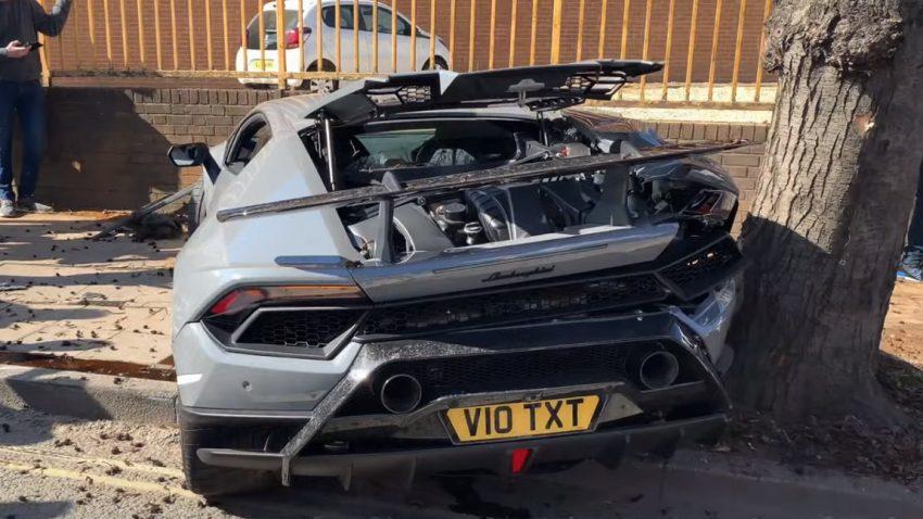 Unrühmlicher Abgang: Lamborghini Huracán Performante crasht nach Supercar-Treffen