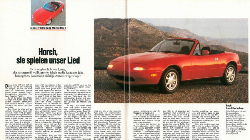 Mazda MX-5: Horch, sie spielen unser Lied