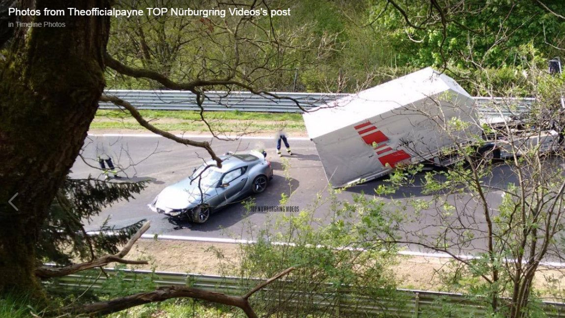 Toyota Supra-Crash am Nürburgring