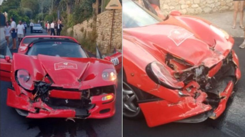 Teurer Auffahrunfall: Ferrari F50 kracht in 488 Pista