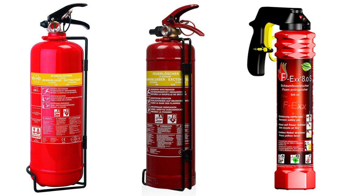 Der richtige Feuerlöscher für das Auto