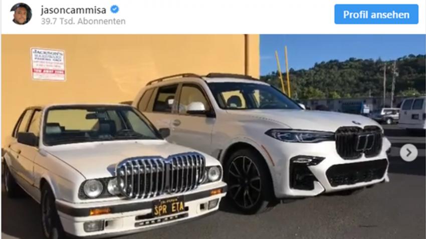 Nierentransplantation: BMW E30 und X7 tauschen Kühlergrill