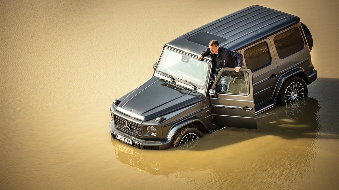 Test Mercedes G 500: Kost' ein Eckhaus. Ist ein Eckhaus