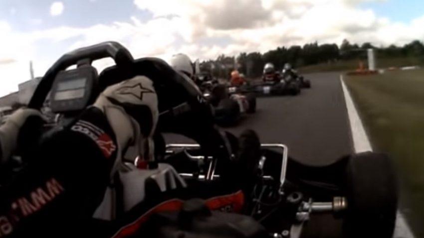 Wie der 12-jährige Max Verstappen die Konkurrenz im Kart-Rennen erniedrigt