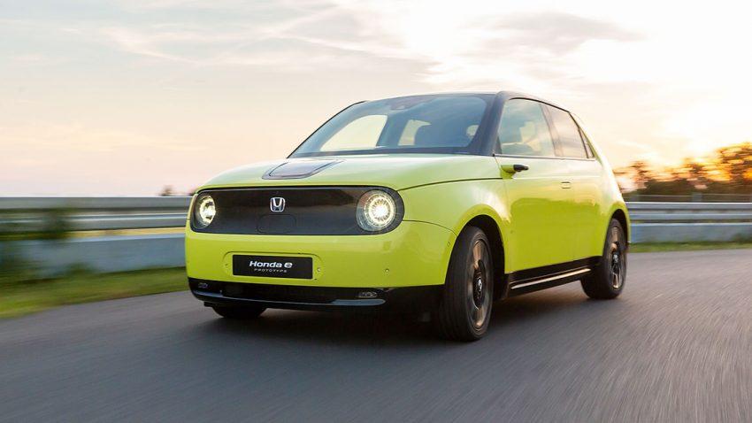 Honda e: Elektrisches Rückspiegelkabinett