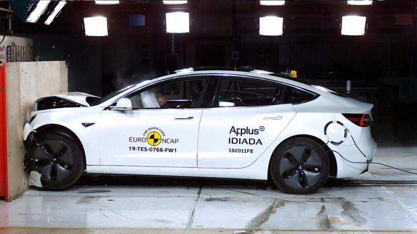 6 Autos im Crashtest: Höchstwertung für Tesla Model 3 [+ Bilder + Videos]